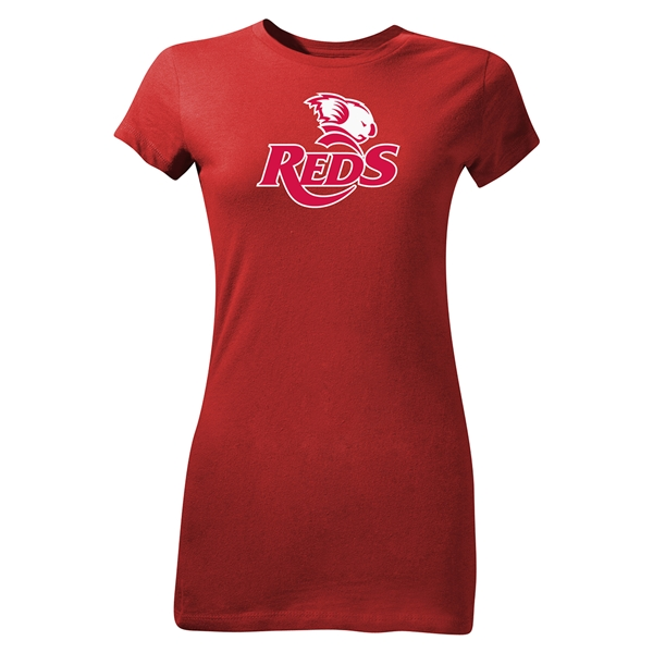 Queensland Reds Junior Women's SS Rugby T-Shirt (Red)