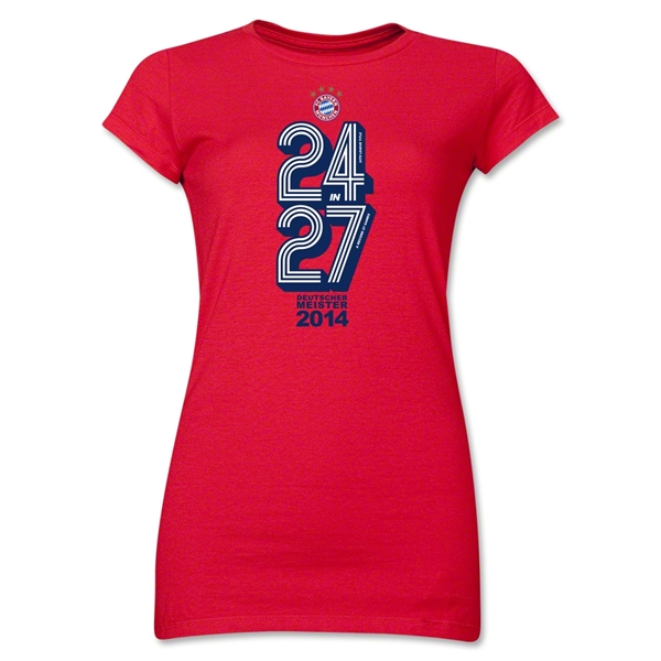 Bayern Munich 2014 Champions Junior Women's T-Shirt (Red)