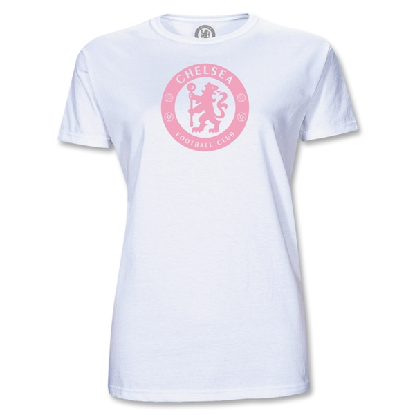 Chelsea Football Logo Junior Women's T-Shirt (White)