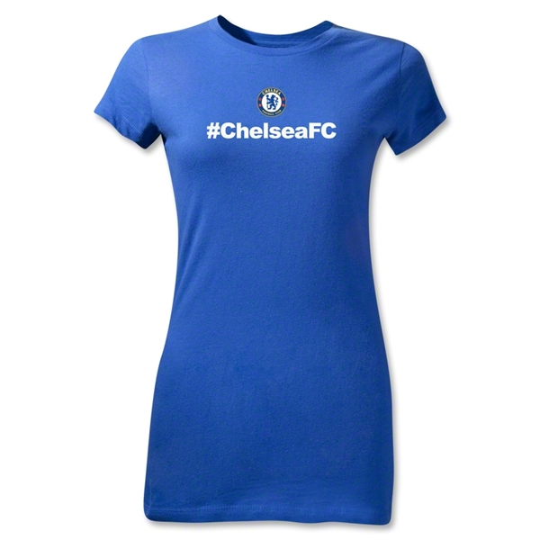 Chelsea Hashtag Junior Women's T-Shirt (Royal)