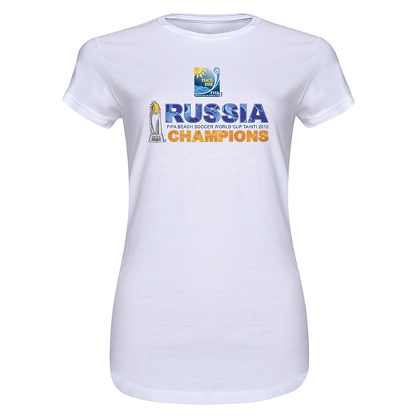 Russia FIFA Beach World Cup Winners Jr Women's T-Shirt (White)