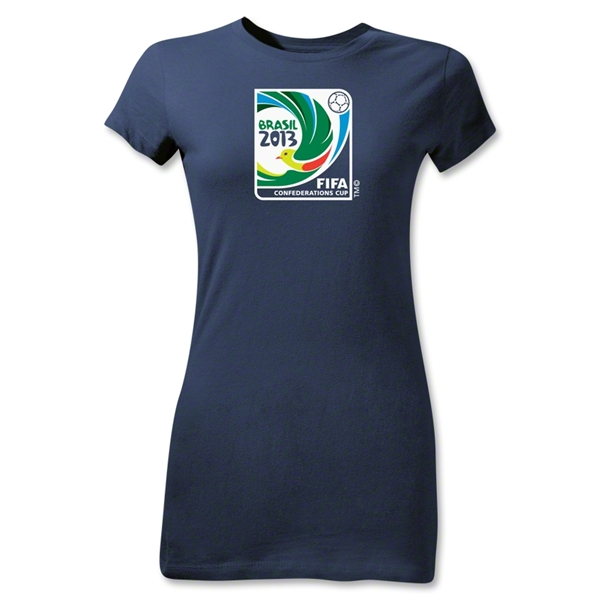 FIFA Confederations Cup 2013 Junior Women's Emblem T-Shirt (Navy)