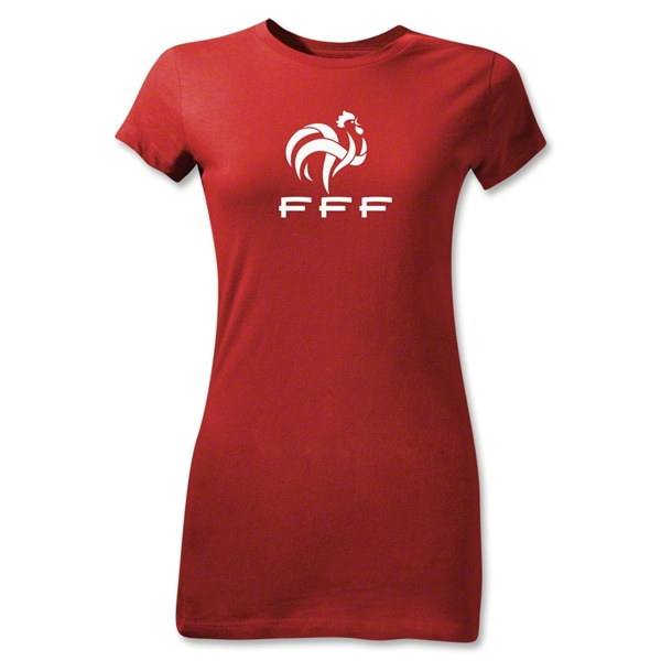 France FFF Junior Women's T-Shirt (Red)
