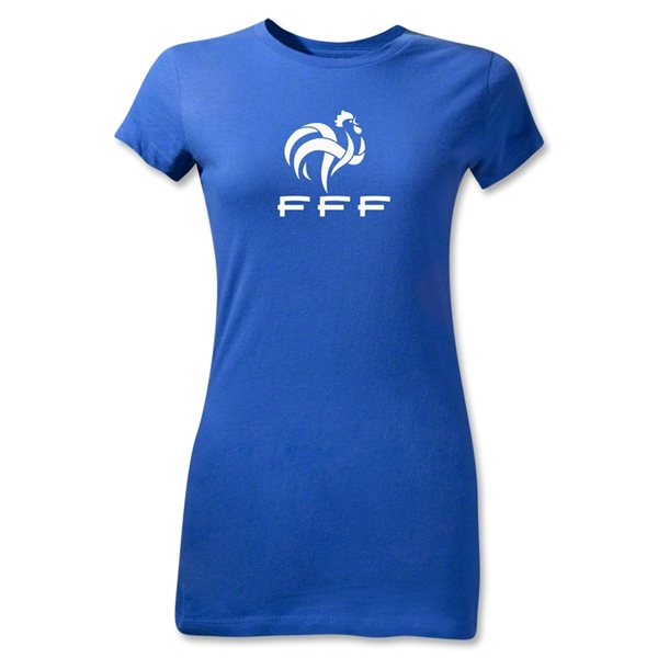 France FFF Junior Women's T-Shirt (Royal)