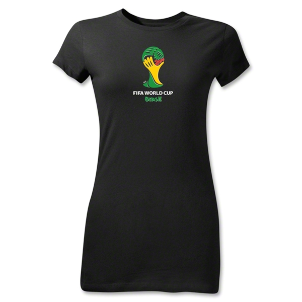 2014 FIFA World Cup Brazil(TM) Emblem Junior Women's T-Shirt (Black)