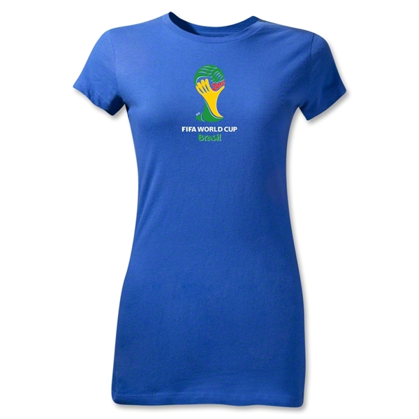 2014 FIFA World Cup Brazil(TM) Emblem Junior Women's T-Shirt (Royal)