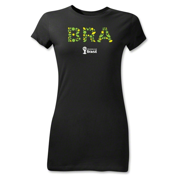 Brazil 2014 FIFA World Cup Brazil(TM) Junior Women's Elements T-Shirt (Black)