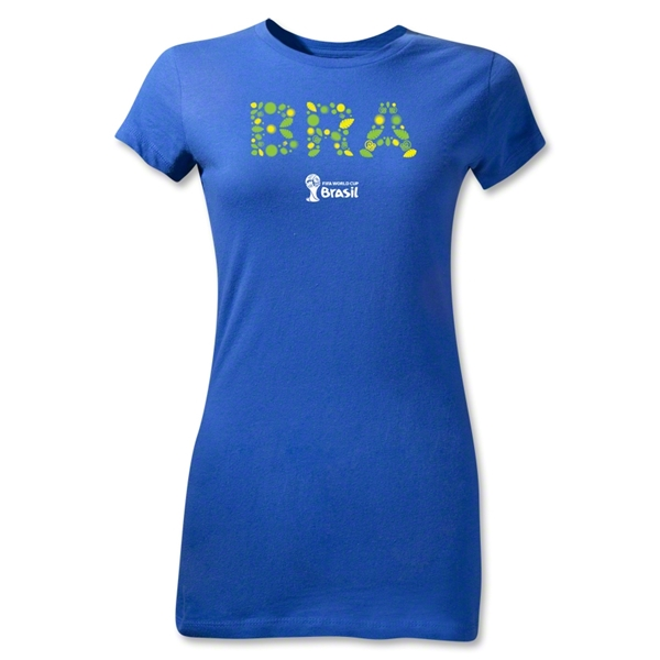 Brazil 2014 FIFA World Cup Brazil(TM) Junior Women's Elements T-Shirt (Royal)