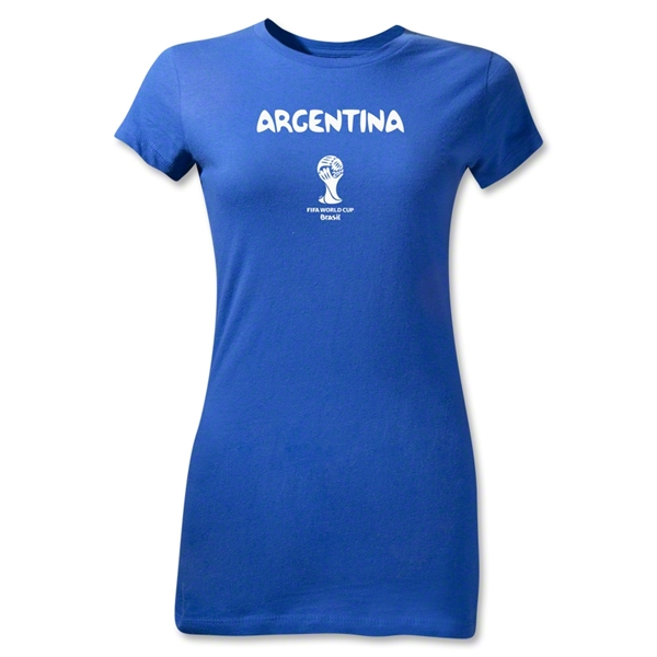 Argentina 2014 FIFA World Cup Brazil(TM) Jr Women's Core T-Shirt (Royal)