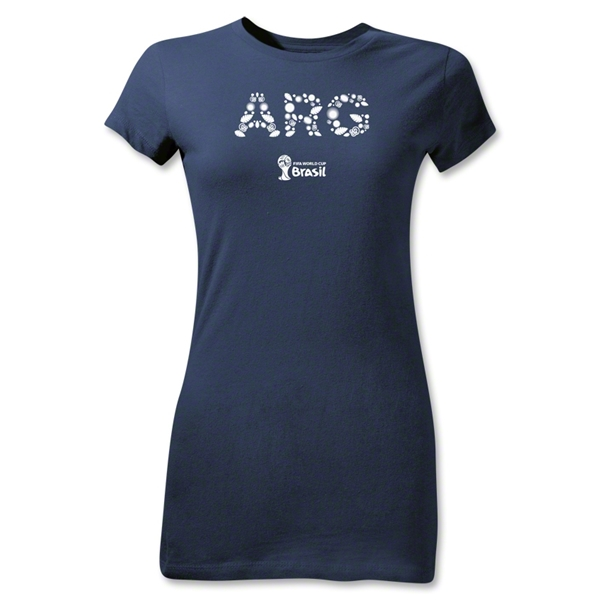Argentina 2014 FIFA World Cup Brazil(TM) Jr Women's Elements T-Shirt (Navy)