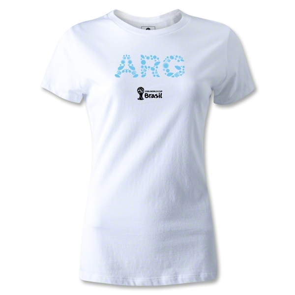Argentina 2014 FIFA World Cup Brazil(TM) Jr Women's Elements T-Shirt (White)