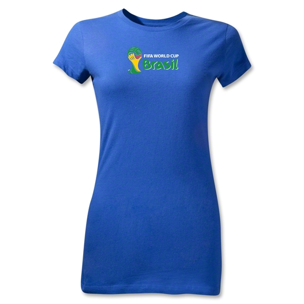2014 FIFA World Cup Brazil(TM) Junior Women's Landscape Emblem T-Shirt (Royal)