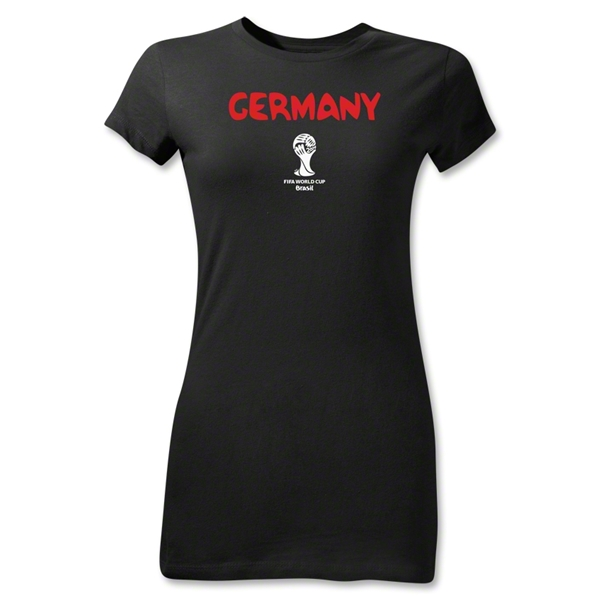 Germany 2014 FIFA World Cup Brazil(TM) Jr Women's Core T-Shirt (Black)