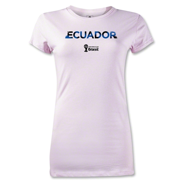 Ecuador 2014 FIFA World Cup Brazil(TM) Jr Women's Palm T-Shirt (Pink)