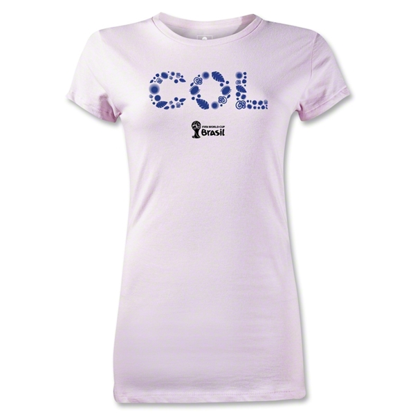Colombia 2014 FIFA World Cup Brazil(TM) Jr Women's Elements T-Shirt (Pink)