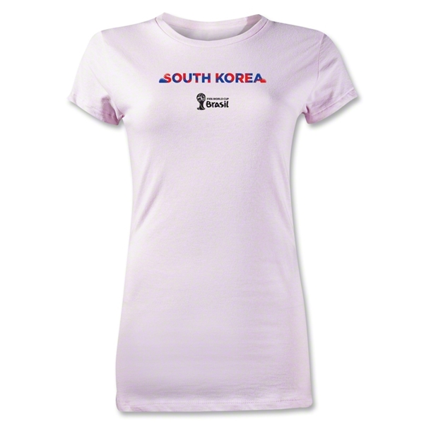 South Korea 2014 FIFA World Cup Brazil(TM) Junior Women's Palm T-Shirt (Pink)