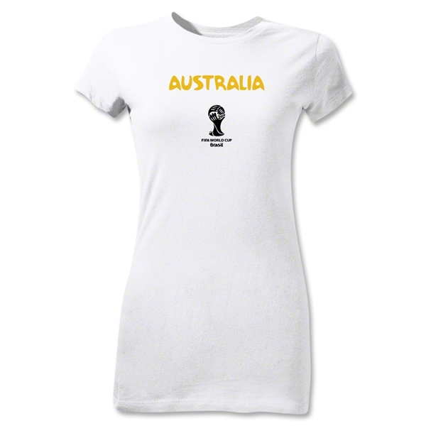 Australia 2014 FIFA World Cup Brazil(TM) Junior Women's Core T-Shirt (White)