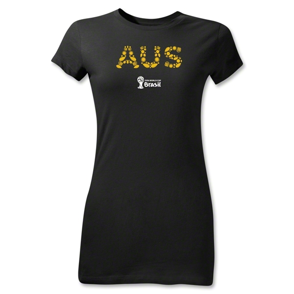 Australia 2014 FIFA World Cup Brazil(TM) Junior Women's T-Shirt (Black)