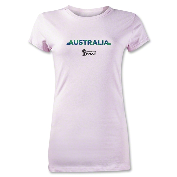 Australia 2014 FIFA World Cup Brazil(TM) Junior Women's T-Shirt (Pink)