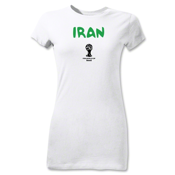Iran 2014 FIFA World Cup Brazil(TM) Junior Women's Core T-Shirt (White)