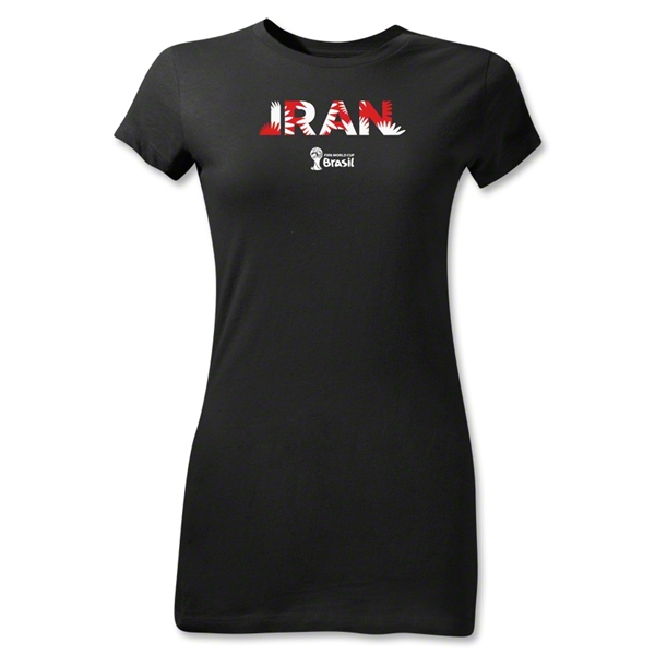 Iran 2014 FIFA World Cup Brazil(TM) Junior Women's Palm T-Shirt (Black)