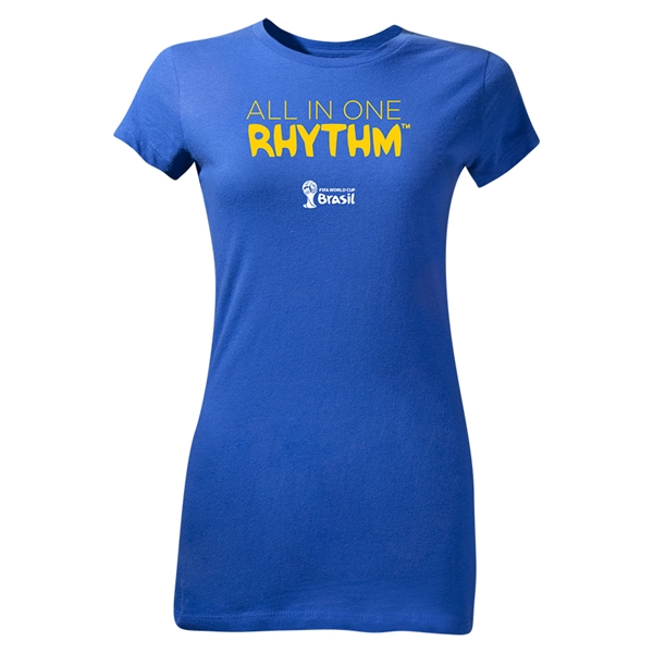 2014 FIFA World Cup Brazil(TM) Junior Women's All In One Rhythm T-Shirt (Royal)