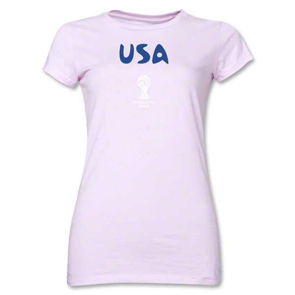 USA 2014 FIFA World Cup Brazil(TM) Junior Women's Core T-Shirt (Pink)