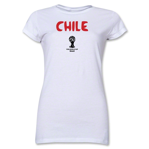 Chile 2014 FIFA World Cup Brazil(TM) Junior Women's Core T-Shirt (White)