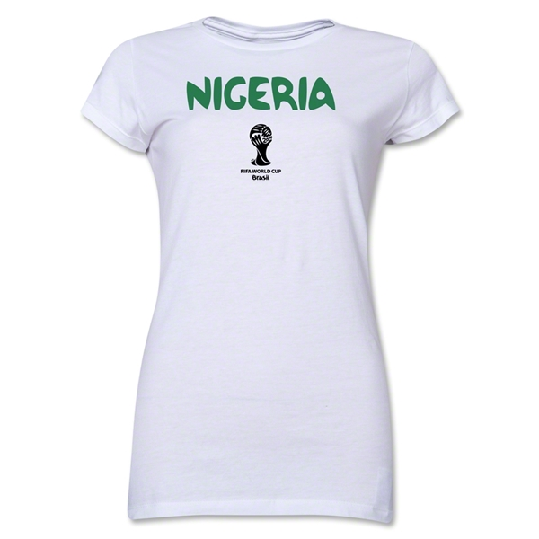 Nigeria 2014 FIFA World Cup Brazil(TM) Jr. Women's Core T-Shirt (White)