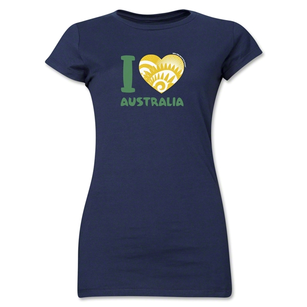 I Heart Australia 2014 FIFA World Cup Brazil(TM) Jr. Women's T-Shirt (Navy)