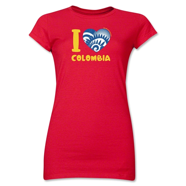 I Heart Colombia 2014 FIFA World Cup Brazil(TM) Jr. Women's T-Shirt (Red)