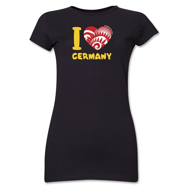 I Heart Germany 2014 FIFA World Cup Brazil(TM) Jr. Women's T-Shirt (Black)