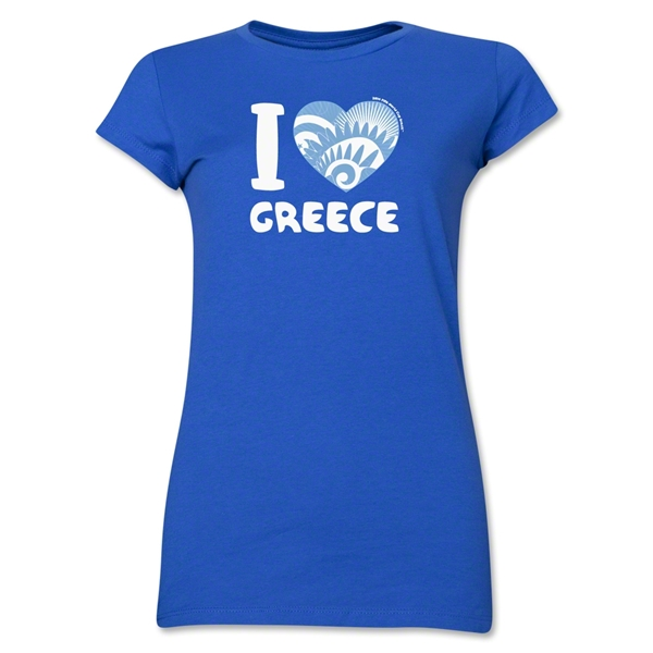 I Heart Greece 2014 FIFA World Cup Brazil(TM) Jr. Women's T-Shirt (Royal)