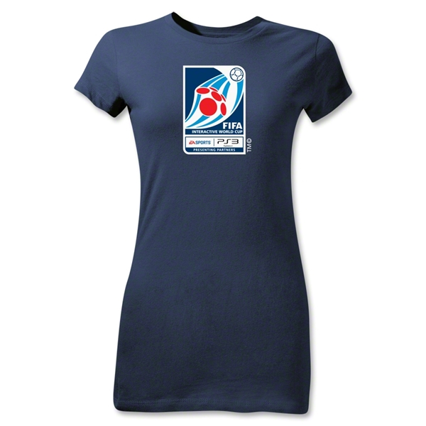 FIFA Interactive World Cup Junior Women's Emblem T-Shirt (Navy)