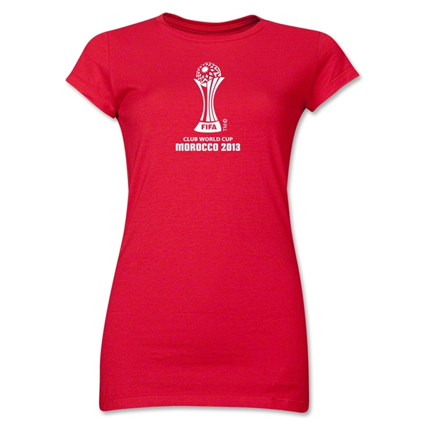 FIFA Club World Cup Morocco 2013 Junior Women's Official Emblem T-Shirt (Red)