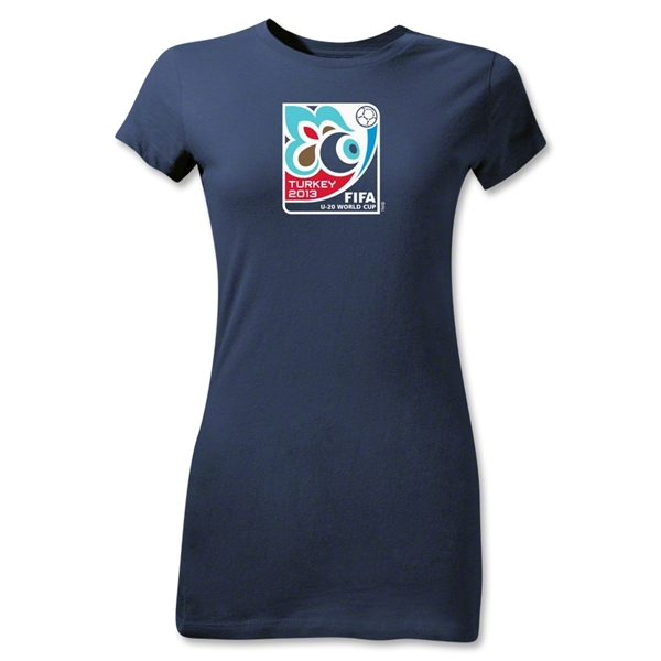 FIFA U-20 World Cup Turkey 2013 Junior Women's Emblem T-Shirt (Navy)