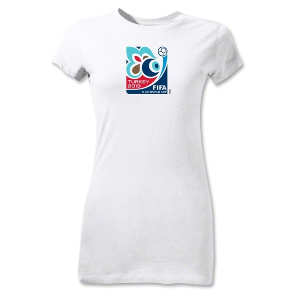 FIFA U-20 World Cup Turkey 2013 Junior Women's Emblem T-Shirt (White)