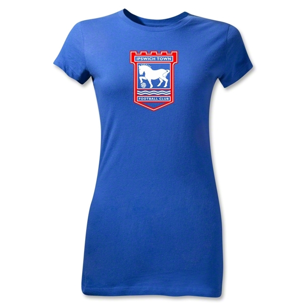 Ipswich Crest Junior Women's T-Shirt (Royal)