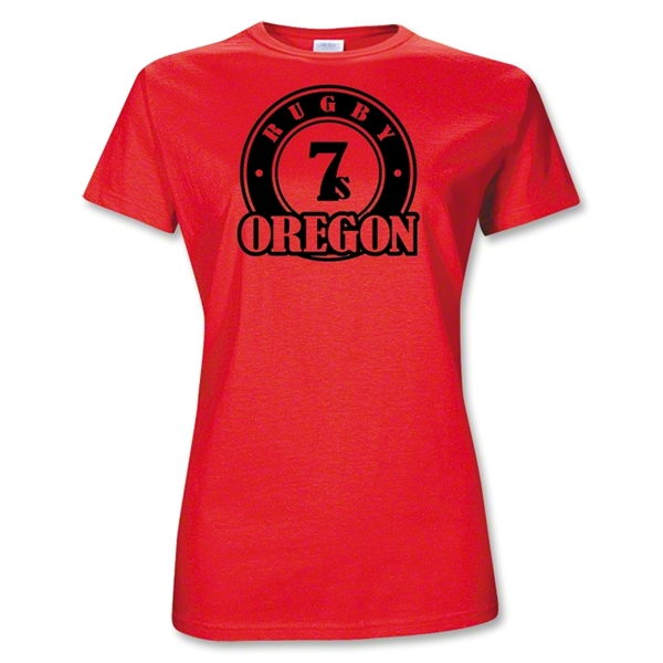 Rugby Oregon Junior Women 7's T-Shirt (Red)