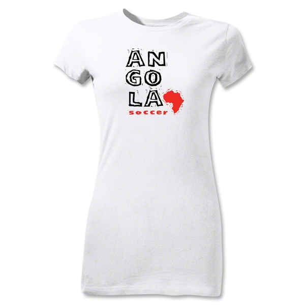 Angola Junior Women's Country T-Shirt (White)