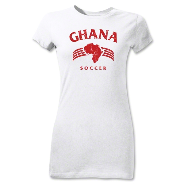 Ghana Junior Women's Country T-Shirt (White)