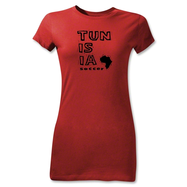 Tunisia Junior Women's Country T-Shirt (Red)