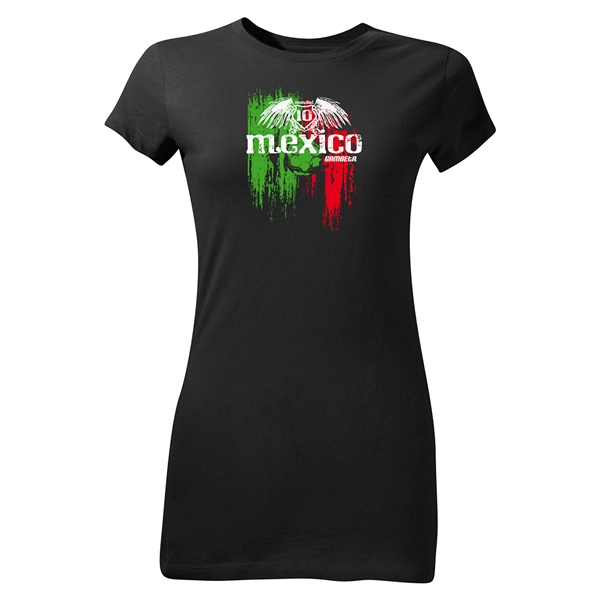 Mexico Graphic Junior Women's T-Shirt (Black)