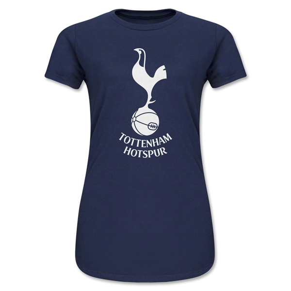 Tottenham Hotspurs Logo Junior Women's T-Shirt (Navy)