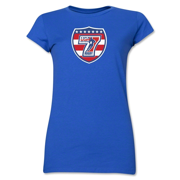 USA Sevens Rugby Junior Women's T-Shirt (Royal)