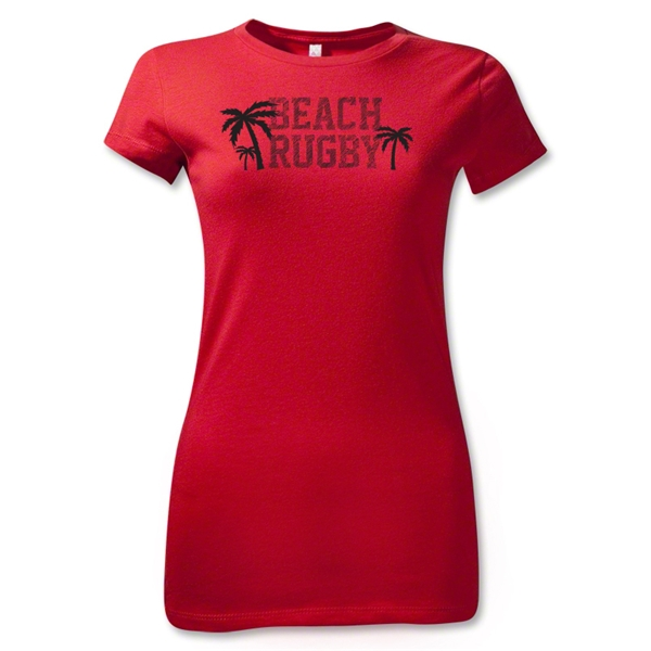 Beach Rugby Junior Women's T-Shirt (Red)