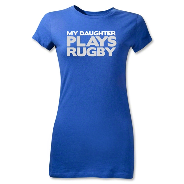 My Daughter Plays Rugby Junior Women's T-Shirt (Royal)