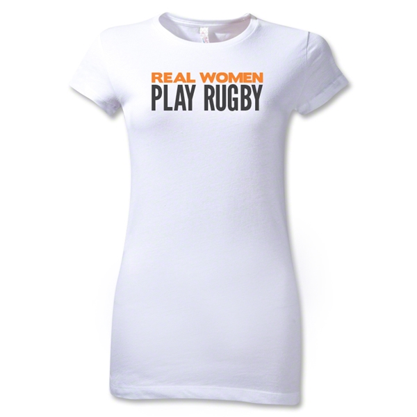 Real Women Play Junior Women's T-Shirt (White)