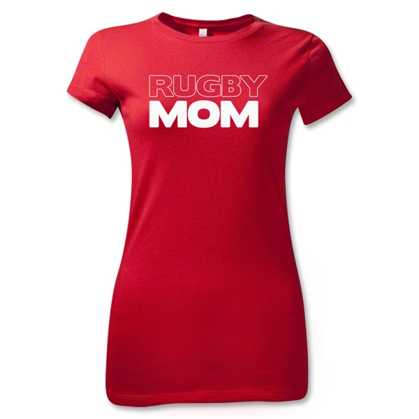Rugby Mom 2 Junior Women's T-Shirt (Red)