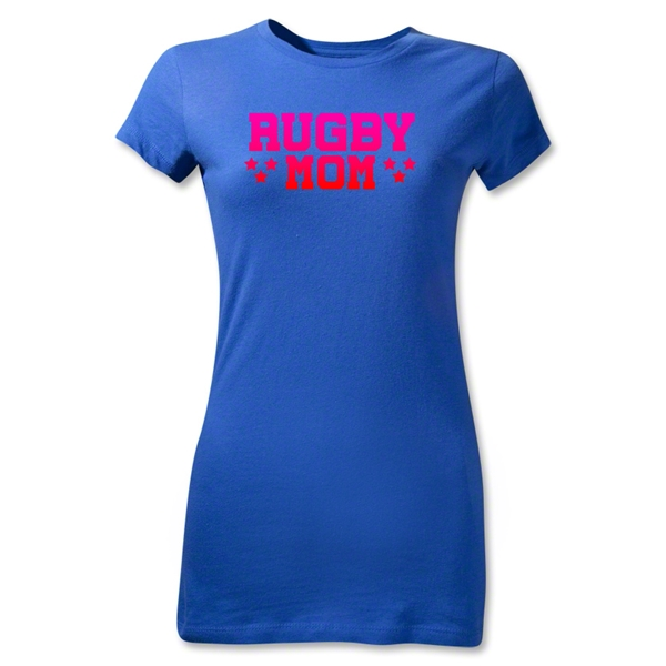 Rugby Mom 3 Junior Women's T-Shirt (Royal)